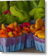 Peppers At The Produce Market Metal Print
