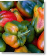 Peppers Of Many Colors Metal Print