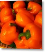 Peppers Plump And Pretty Metal Print