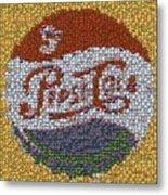Pepsi Bottle Cap Mosaic Metal Print