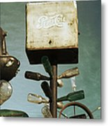 Pepsi Bottle Tree - Route 66 Metal Print