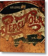 Pepsi Cola Vintage Sign 5b Metal Print