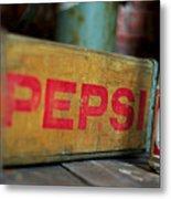 Pepsi Crate Metal Print