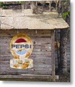 Pepsi Sign Metal Print