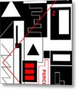 Perception I - Text Metal Print