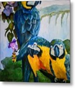 Perched In Paradise Metal Print
