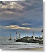 Perfect Beach And Smooth Sailing Metal Print