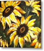 Perfect Beauty Sunflower Metal Print