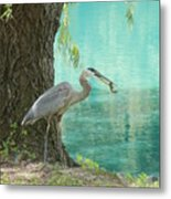 Perfect Catch Metal Print