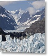Perfect Day At Margerie Glacier Metal Print