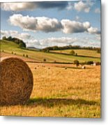 Perfect Harvest Landscape Metal Print by Amanda Elwell