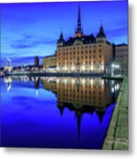 Perfect Riddarholmen Blue Hour Reflection Metal Print