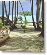 Perfect Tropical Paradise Islands With Turquoise Water And White Sand Metal Print