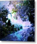 Fantasy Garden Path Periwinkle Metal Print