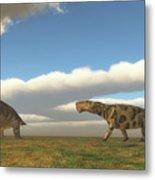 Permian Inostrancevia Hunts Keratocephalus Metal Print