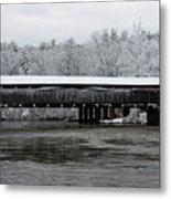 Perrine's Bridge After The Nor'easter Metal Print