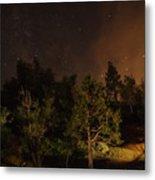 Perseid Meteor Glow A Metal Print