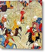 Persian Polo Game Metal Print