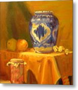 Persian Vase And Fruit Jar Metal Print
