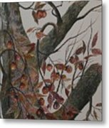 Persimmon Tree Metal Print