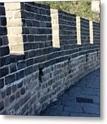 Perspective At The Great Wall Metal Print