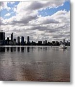 Perth City From South Perth Foreshore  Metal Print