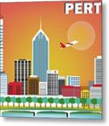 Perth Western Australia Australia Horizontal Skyline Metal Print