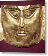 Peru: Chimu Gold Mask Metal Print