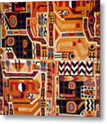 Peru: Tunic Fragment Metal Print