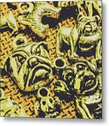 Pet Pendant Dogs Metal Print