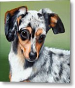 Pet Portrait Painting Commission Any Animal Metal Print