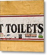 Pet Toilets Metal Print