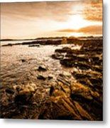 Petal Point Ocean Sunrise Metal Print