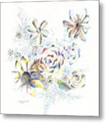 Petals On The Porch Metal Print