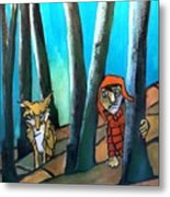 Peter And The Wolf Metal Print