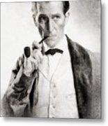 Peter Cushing As Sherlock Holmes Metal Print