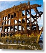 Peter Iredale Shipwreck - Oregon Coast Metal Print