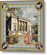 Petit Trianon Medallions Metal Print