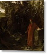 Petrarch By The Fountain Of Vaucluse Metal Print