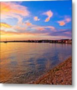 Petrcane Beach Golden Sunset View Metal Print