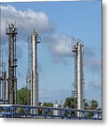 Petrochemical Plant Refinery Industry Zone Metal Print