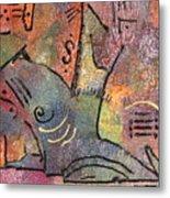 Petroglyph Quilt Metal Print