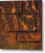 Petroglyphs Agave Metal Print