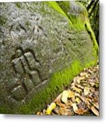 Petroglyphs At An Archaeological Site Metal Print
