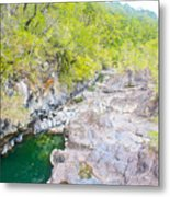 Petrohue River In Vicente Perez Rosales National Park Near Puerto Montt-chile Metal Print