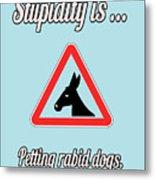 Petting Bigstock Donkey 171252860 Metal Print