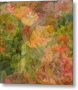Petunias And Lantana Collage Metal Print