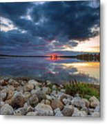 Pewaukee Lake Trail Metal Print