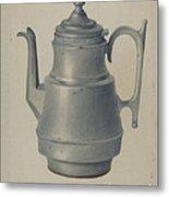 Pewter Teapot Metal Print