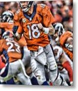 Peyton Manning Art 2 Metal Print